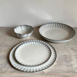 Fluted Ceramic Side Plate | 21cm