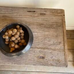 Antique Rustic Wood Console | Carroll