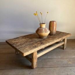 Antique Elm Rustic coffee table | Virginia