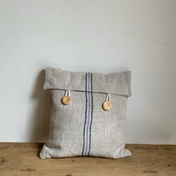 Grain Sack Red Pillow with Fold | Small