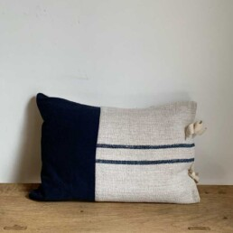 Grain Sack Bolster Blue | Block Patch Small