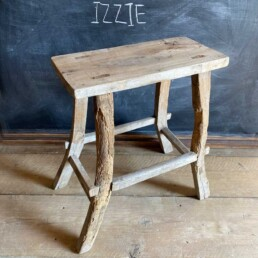 Rustic Wood Antique Stool | Selected MeasuredRustic Wood Antique Stool | Selected Measured