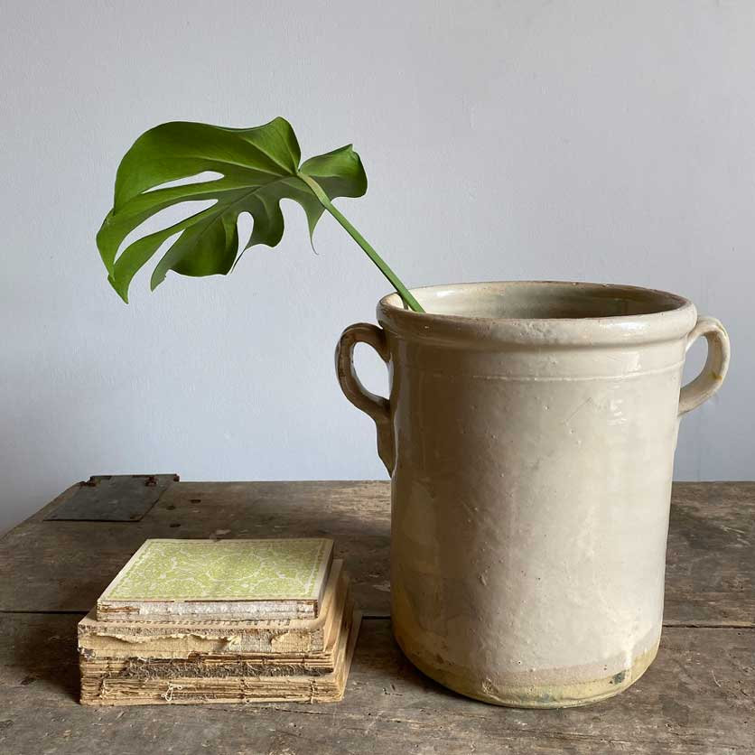 Antique Italian Chiminea Preserve Pot Large Jerome