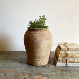 Spanish Antique Confit Pot Green | Julieta