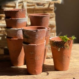 Vintage Hand Thrown Terracotta Tiny Pot