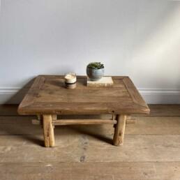 Antique Low Elm Coffee Table | Trenton
