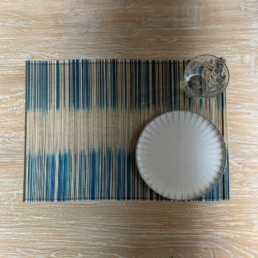 Bamboo Placemat Natural and Blue