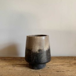 Handcrafted-African-pottery-collection-Ombre-Vase-a