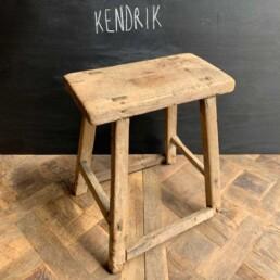 Kendrik Antique Rustic Milking Stool