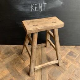 Kent Antique Rustic Milking Stool