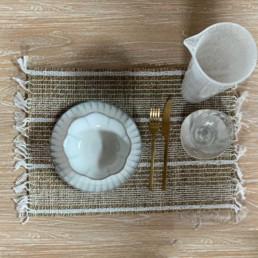 Seagrass Placemat White Stripe