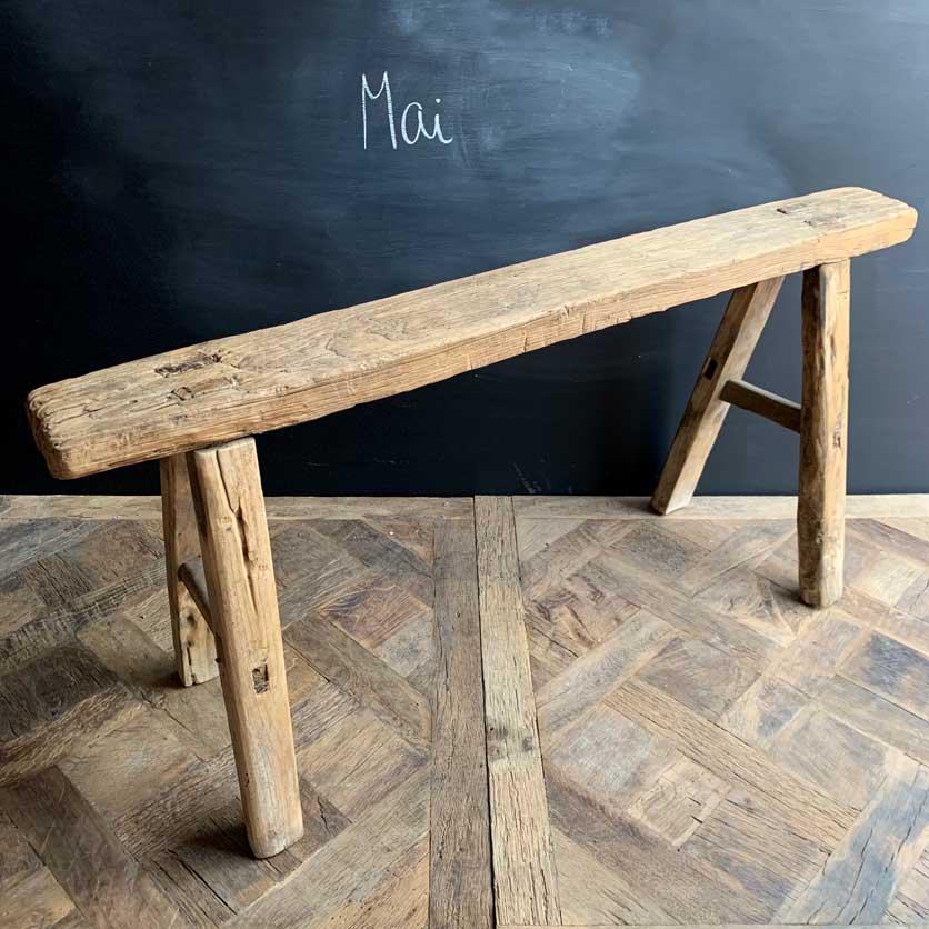 Antique Rustic Wooden Bench   Mai 111cm