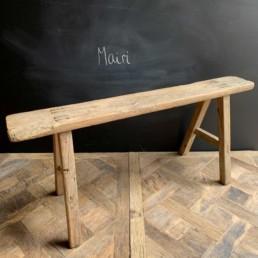 Antique Rustic Wooden Bench   Mairi 119cm