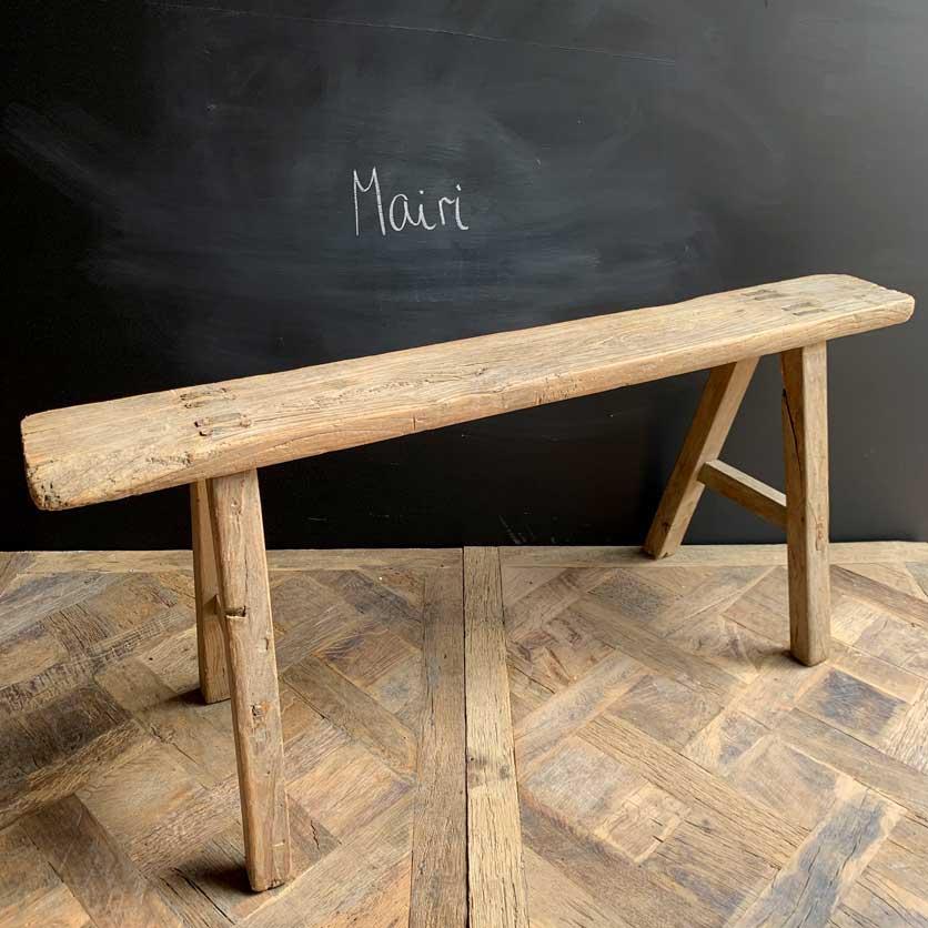 Antique Rustic Wooden Bench | Mairi 119cm