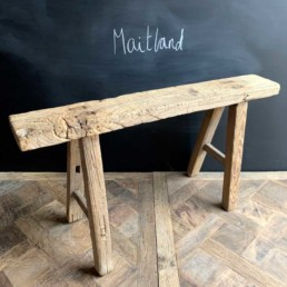 Antique Rustic Wooden Bench | Maitland 95cm