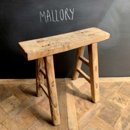 Mallory Antique wooden small utility bench | selected measured