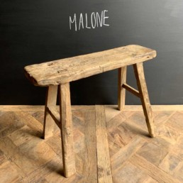 Malone Antique wooden small utility bench | selected measured