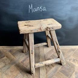 Marisa Antique Rustic Milking Stool