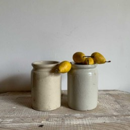 Plain Stoneware Jam Jars with rim | Large