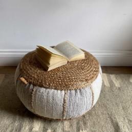 Pouf Seat Jute and Cotton | Amisha