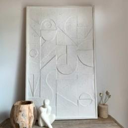 Sculptural deco wall artwork | Natural