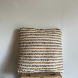 Striped Cotton and Jute Bolster | Ottalie