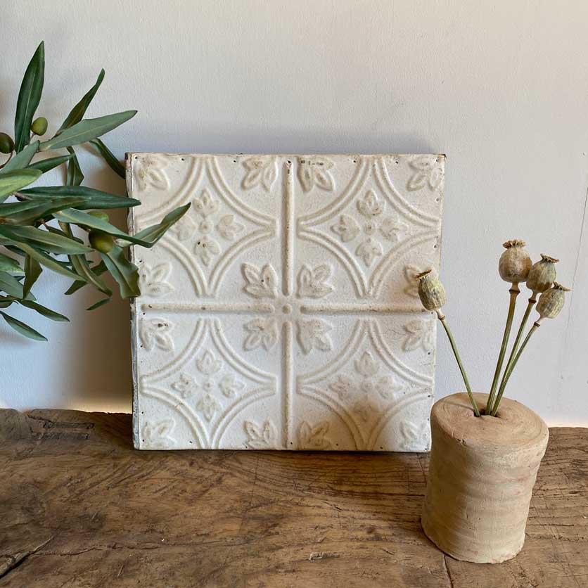 Vintage American Tin Tile - Medium | H