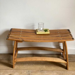 Double Bench | Recycled Wine Barrel Staves
