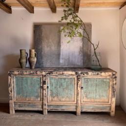Distressed paintwork Antique Sideboard | Laszlo