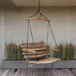 Double Swing | Recycled Wine Barrel Staves