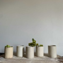 Striped Stoneware Jam Jars | Medium