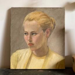Antique Female Portrait | Oil Painting by Ann Le Bas