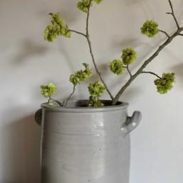 Vintage German Grey Stoneware Preserve Pot   Large