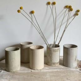 Striped Stoneware Jam Jars | Large