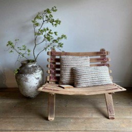 Love Seat | Recycled Wine Barrel Staves