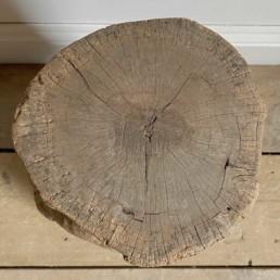 Rustic Elm Tree Trunk Side Table   Malachi