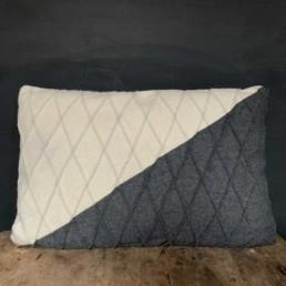 Felted-wool-triangle-cushion