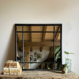 Square-Iron-Framed-Mirror