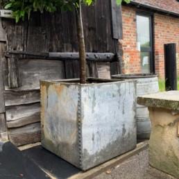 Vintage Galvanised Water Tank | Square