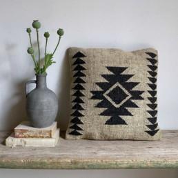 Modern Kilim Wool Cushion | Amina