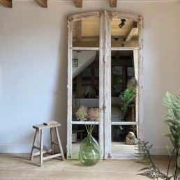 Antique French Door Arched Mirror | Antibes