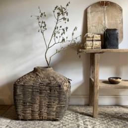 Antique Large Hand Woven Basket | Augustus