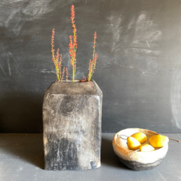 Handcrafted African pottery collection | Black Vase