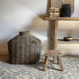Antique Large Hand Woven Basket | Cassius