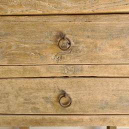 Reclaimed Elm Console With Drawers | Cora