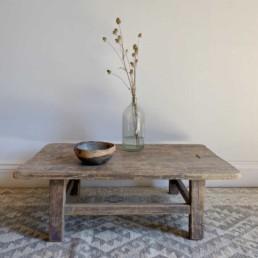 Small Elm Antique Coffee Table   Eliza