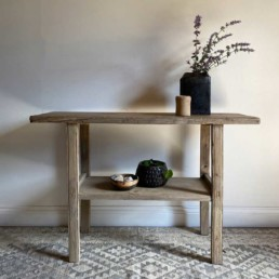 Rustic Reclaimed Console Table | Florence