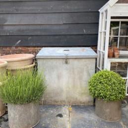 Galvanised Vintage Grain storage Box
