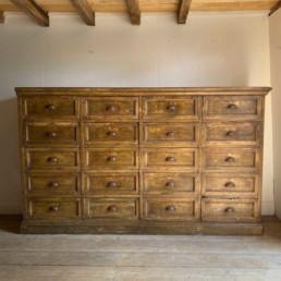 Huge Antique Bank of Drawers | Herbert