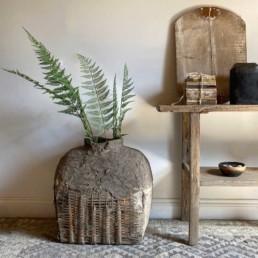 Antique Large Hand Woven Basket | Luella